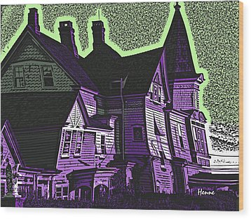 Old Meets New Wood Print by Robert Henne