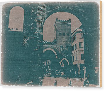 Old Milan Wood Print by Naxart Studio