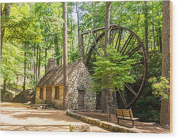Old Mill At Berry College Wood Print by Sussman Imaging