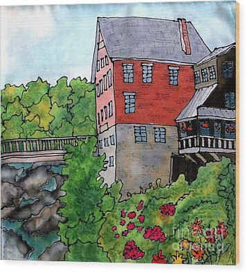Old Mill In Bradford Wood Print by Linda Marcille