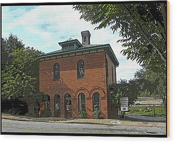 Wood Print featuring the photograph Old Mill Office by Larry Bishop
