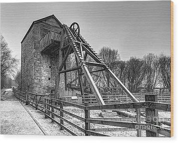 Old Mine Wood Print by Adrian Evans