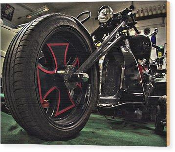 Old Motorbike Wood Print