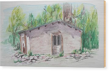 Old New Mexico House Wood Print