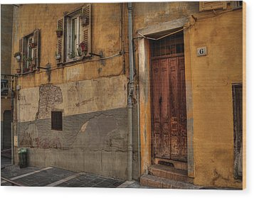 Wood Print featuring the photograph Old Nice - Vieille Ville 008 by Lance Vaughn