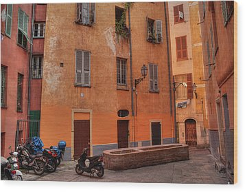 Wood Print featuring the photograph Old Nice - Vieille Ville 010 by Lance Vaughn