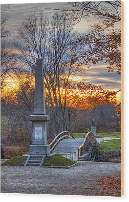 Old North Bridge - Concord Ma Wood Print