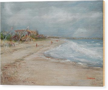 Old Orchard Beach Wood Print by Joyce A Guariglia