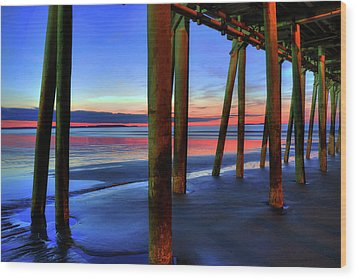 Wood Print featuring the photograph Old Orchard Beach Pier -maine Coastal Art by Joann Vitali