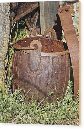 Old Ore Bucket Wood Print by Phyllis Denton