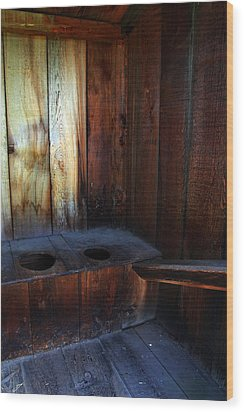 Old Outhouse Wood Print by Joanne Coyle