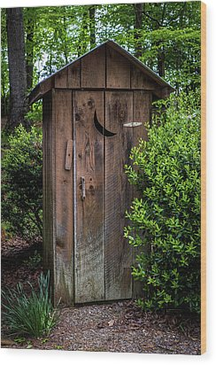Old Outhouse Wood Print