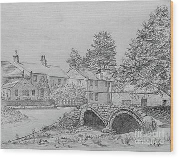 Old Packhorse Bridge Wycoller Wood Print by Anthony Lyon