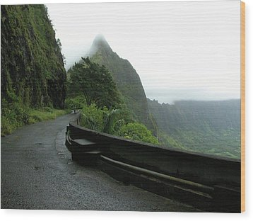 Wood Print featuring the photograph Old Pali Road, Oahu, Hawaii by Mark Czerniec