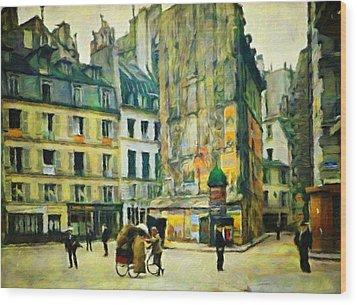 Old Paris Wood Print by Vincent Monozlay