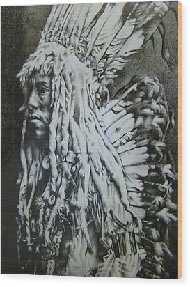 Old Person Wood Print by Michael Lee Summers