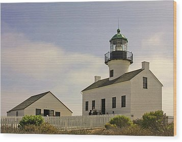 Old Point Loma Lighthouse - Cabrillo National Monument San Diego Ca Wood Print by Christine Till