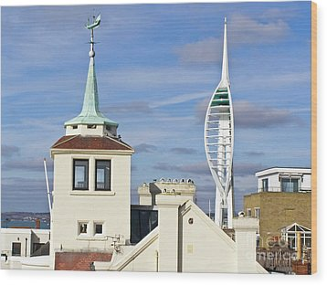 Old Portsmouth's Towers Wood Print by Terri Waters