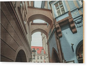 Wood Print featuring the photograph Old Prague Architecture 1 by Jenny Rainbow