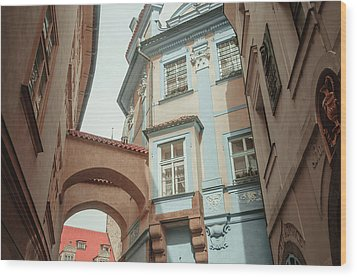 Wood Print featuring the photograph Old Prague Architecture by Jenny Rainbow