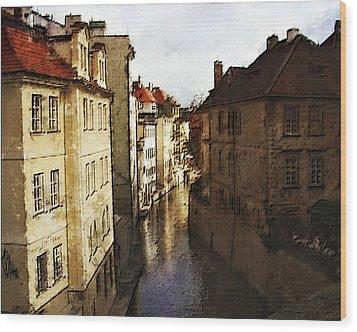 Old Prague Wood Print by Jo-Anne Gazo-McKim