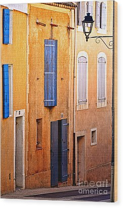 Wood Print featuring the photograph Old Provence Village Street by Olivier Le Queinec