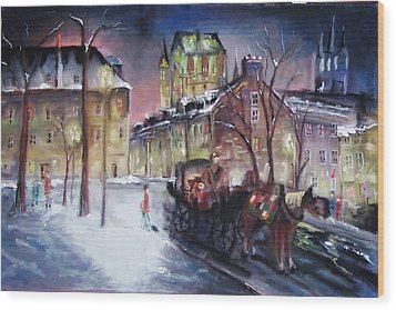 old Quebec Wood Print