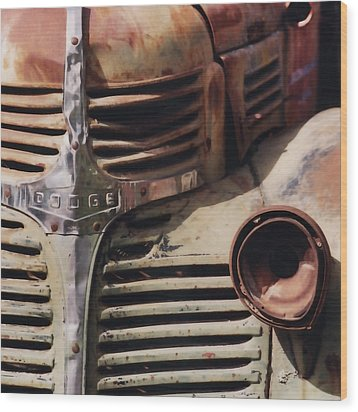 Old Ranch Truck Wood Print by Art Block Collections
