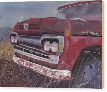 Old Red Wood Print by Arlene Crafton
