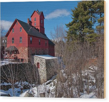 Wood Print featuring the photograph Old Red Mill - Jericho, Vt. by Joann Vitali
