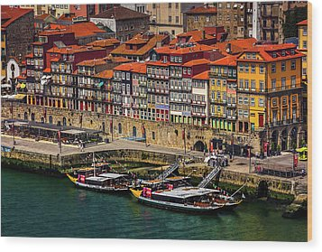 Wood Print featuring the photograph Old Ribeira Porto  by Carol Japp
