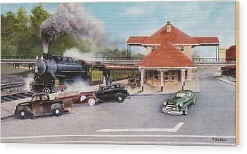 Old Rock Hill Depot   Sold Wood Print