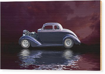 Old Rod Wood Print by Jim  Hatch