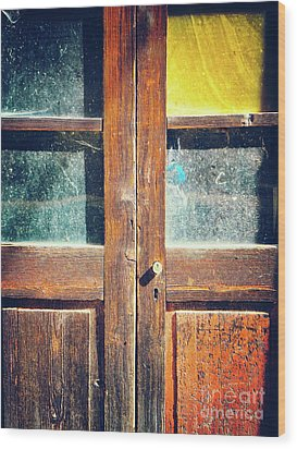 Wood Print featuring the photograph Old Rotten Door by Silvia Ganora