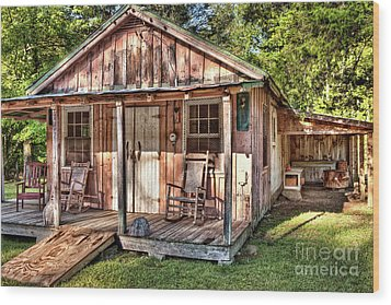 Wood Print featuring the photograph Old Rustic House In The Mountains by Dan Carmichael