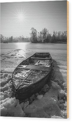 Wood Print featuring the photograph Old Rusty Boat by Davorin Mance
