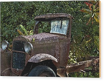Old Rusty Wood Print by Ross Powell