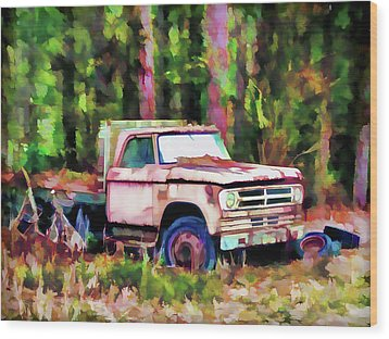 Old Rusty Truck Wood Print by Lanjee Chee
