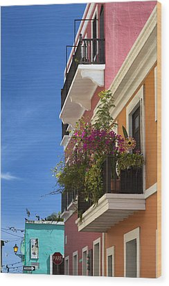 Wood Print featuring the photograph Old San Juan by Patrick Downey
