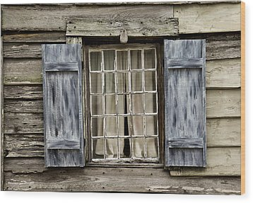 Old Schoolhouse Window Wood Print by Frank Russell