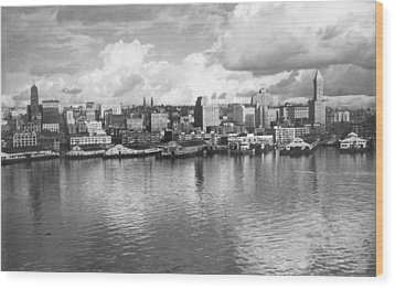 Old Seattle 1949 Wood Print