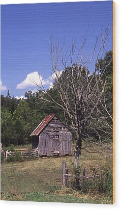 Old Shack Wood Print by Curtis J Neeley Jr