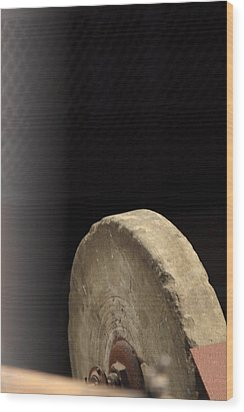 Wood Print featuring the photograph Old Sharpening Stone by Viktor Savchenko