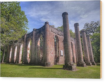 Old Sheldon Church Wood Print by Andreas Freund