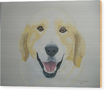Wood Print featuring the painting Old Shep by Norm Starks