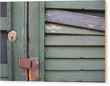 Wood Print featuring the photograph Old Shutters French Quarter by KG Thienemann
