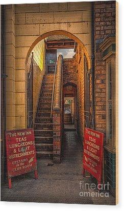 Old Signs Wood Print by Adrian Evans