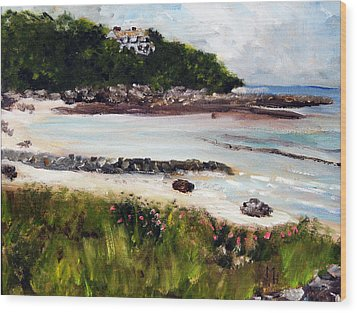Old Silver Beach Falmouth Wood Print
