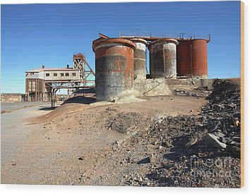 Old Silver Mine Broken Hill Wood Print by Bill Robinson