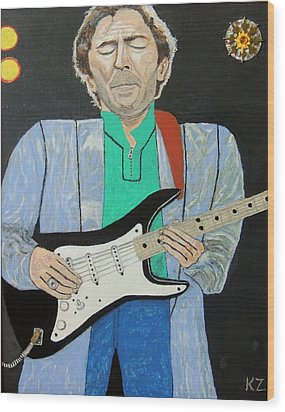 Old Slowhand. Wood Print by Ken Zabel